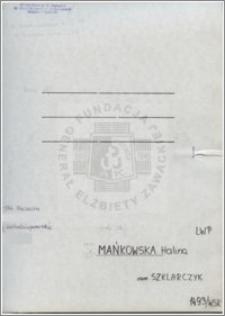 Mańkowska Halina