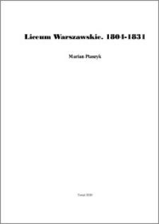 Liceum Warszawskie : 1804-1831