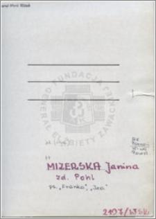 Mizerska Pohl Janina