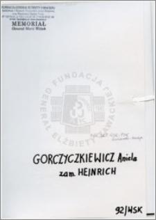 Gorczyczkiewicz Aniela