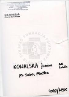 Kowalska Janina