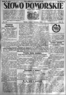 Słowo Pomorskie 1926.04.07 R.6 nr 79