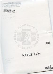 Mazur Zofia