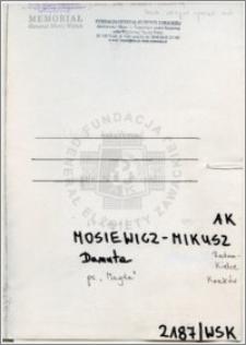 Mosiewicz Mikusz Danuta