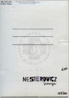 Nesterowicz Jadwiga