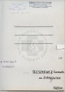 Oleszkiewicz Genowefa