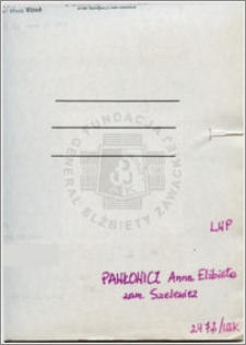 Pawłowicz Anna Elżbieta