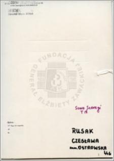 Rusak Czesława