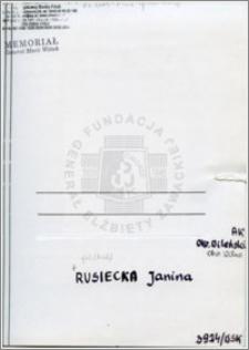 Rusiecka Janina