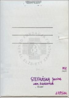 Stefańska Janina