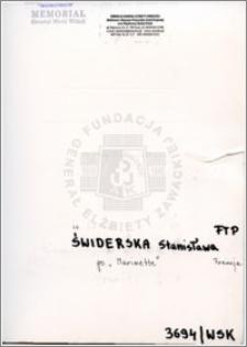 Świderska Stanisława