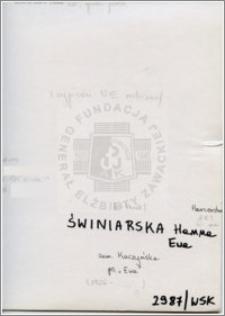 Świniarska Hanna Ewa