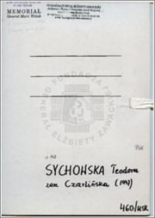 Sychowska Teodora