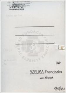 Szeliga Franciszka