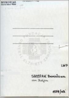 Szostak Bronisława
