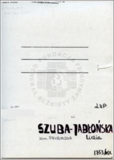 Szuba-Jablońska Lidia