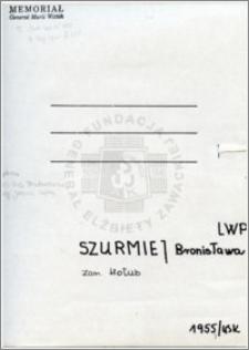 Szurmiej Bronisława