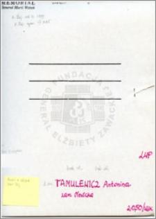 Tamulewicz Antonina