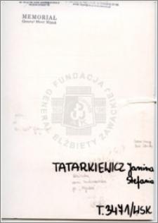 Tatarkiewicz Janina Stefania