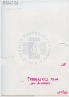 Tomaszewicz Maria