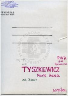 Tyszkiewicz Maria Anna