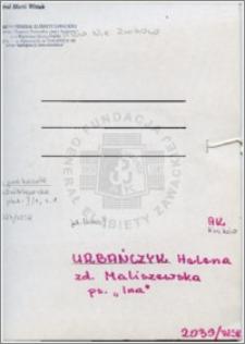 Urbańczyk Helena