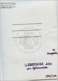Urbanowska Zofia