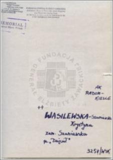 Wasilewska-Szaniawska Krystyna