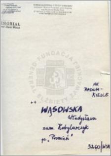 Wąsowska Władysława