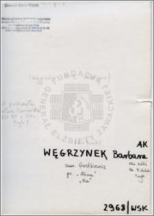 Węgrzynek Barbara