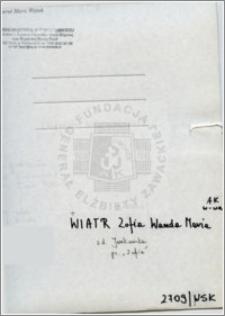 Wiatr Zofia Wanda Maria