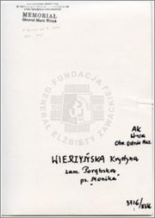 Wierzyńska Krystyna