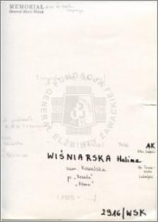 Wiśniarska Halina