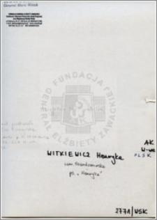 Witkiewicz Henryka