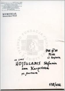 Wojtulanis Stefania