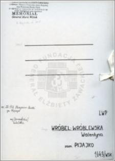 Wróbel-Wróblewska Walentyna