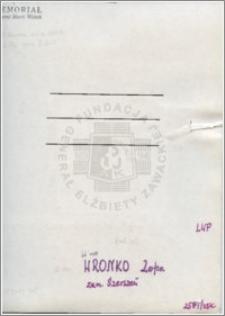 Wronko Zofia