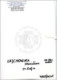Zajchowska Stanisława
