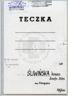 Śliwińska Janina Józefa Zofia