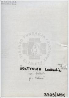 Sołtysiak Leokadia
