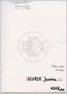 Szurek Janina Zofia
