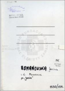 Romanowska Janina