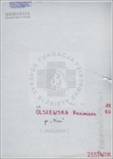 Olszewska Kazimiera