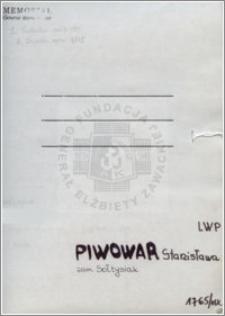 Piwowar Stanisława