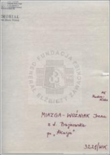 Miazga-Woźniak Irena