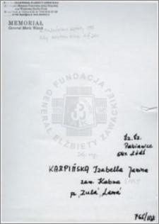 Karpińska Izabella Janina