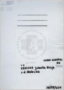 Kasicka Jolanta Alicja