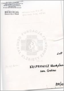 Kasprowicz Władysława