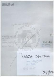 Kasza Zofia Maria
