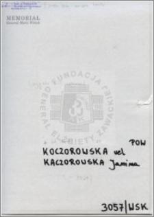Koczorowska vel Kaczorowska Janina